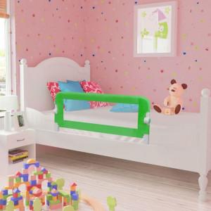 Balustradă de siguranță pentru pat de copil, verde, 102x42 cm