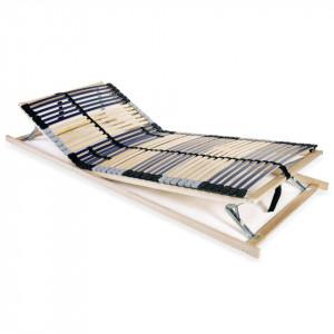 Bază pat cu șipci, 42 șipci, 7 zone, 90 x 200 cm, FSC