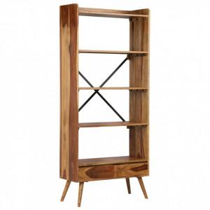Bibliotecă din lemn masiv de sheesham, 75 x 30 x 170 cm