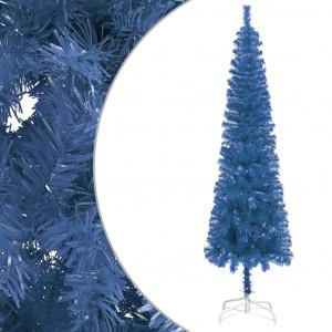 Brad de Crăciun artificial subțire, albastru, 240 cm