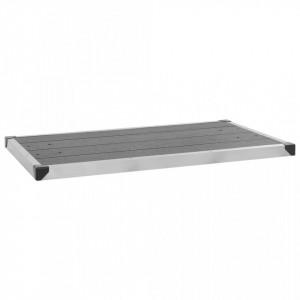 Cădiță de duș de exterior gri 110x62 cm WPC și oțel inoxidabil