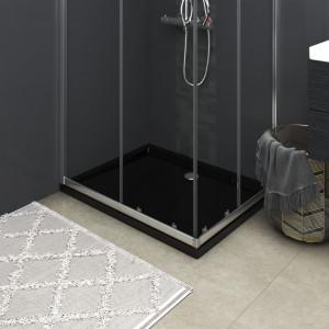 Cădiță de duș dreptunghiulară din ABS, negru, 80x100 cm