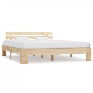 Cadru de pat, 160 x 200 cm, lemn masiv de pin
