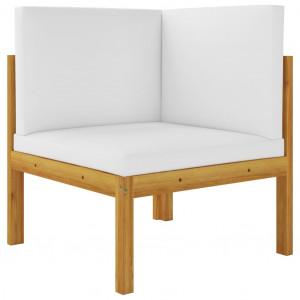 Canapea de colț de grădină cu perne, lemn masiv de acacia