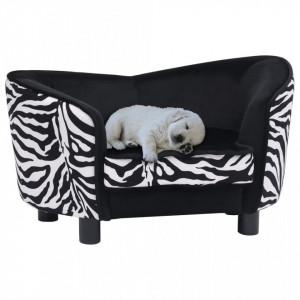 Canapea pentru câini, negru, 68 x 38 x 38 cm, pluș