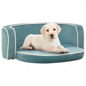 Canapea pliabilă câini turcoaz 73x67x26 cm pernă pluș lavabilă
