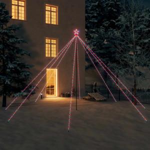 Cascadă lumini brad Crăciun 800 leduri colorat 5 m, int./ext.