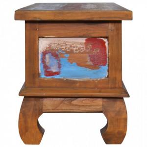 Comodă TV, 110 x 35 x 40 cm, lemn reciclat de tec