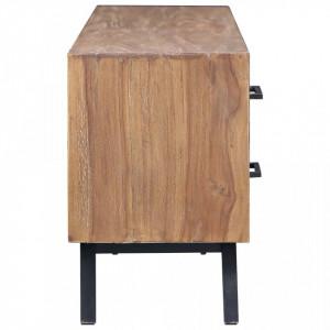 Comodă TV, 120 x 30 x 45 cm, lemn masiv de tec