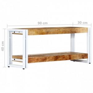 Comodă TV, 90 x 30 x 40 cm, lemn masiv de mango