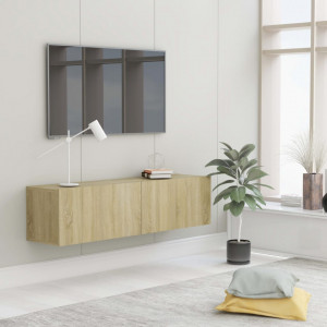 Comodă TV, stejar Sonoma, 120 x 30 x 30 cm, PAL