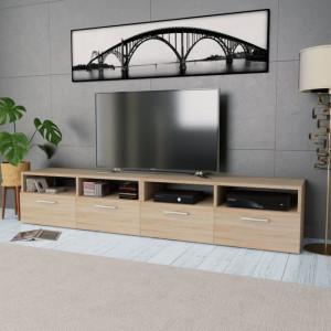 Comode TV 2 buc, PAL, 95 x 35 x 36 cm, culoarea stejarului