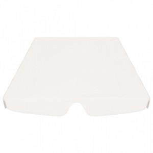 Copertină de rezervă leagăn grădină, alb, 226x186 cm 270 g/m²