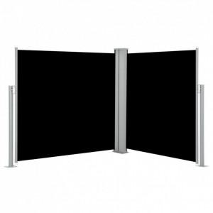 Copertină laterală retractabilă, negru, 100 x 600 cm