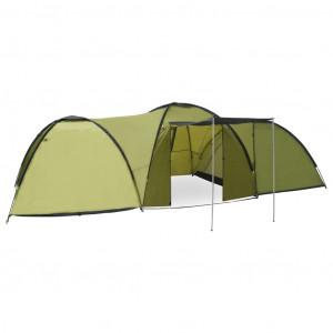 Cort camping tip iglu, 8 persoane, verde, 650 x 240 x 190 cm