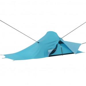 Cort de camping, albastru, 317x240x100 cm