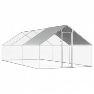 Coteț de exterior pentru păsări, 2,75x6x2 m, oțel galvanizat