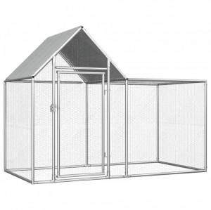 Coteț pentru păsări, 2 x 1 x 1,5 m, oțel galvanizat