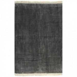 Covor Kilim, antracit, 120 x 180 cm, bumbac