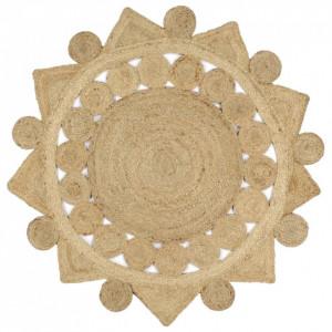 Covor manual din iută împletită, 120 cm