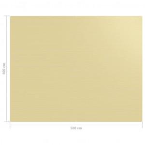 Covor pentru cort, bej, 400x500 cm