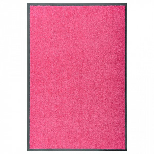 Covoraș de ușă lavabil, roz, 60 x 90 cm