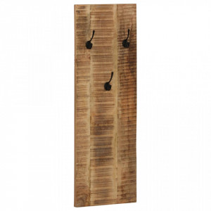 Cuier haine de perete, 2 buc., lemn masiv de mango 36x110x3 cm