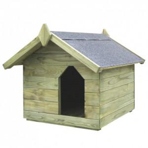 Cușcă de câine grădină, acoperiș detașabil, lemn de pin tratat