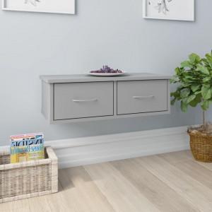 Dulap de perete cu sertare, gri, 60 x 26 x 18,5 cm, PAL