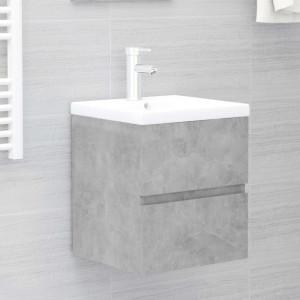 Dulap pentru chiuvetă, gri beton, 41x38,5x45 cm, PAL