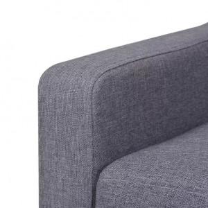 Fotoliu din material textil, gri