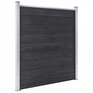 Gard de grădină, gri, 526 x 186 cm, WPC