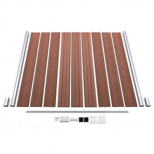 Gard de grădină, maro, 1045 x 186 cm, WPC