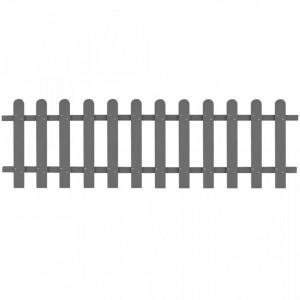 Gard din șipci, gri, 200 x 60 cm, WPC