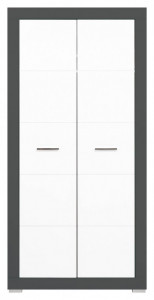 Gray gr-9 white mat-graphite dulap 2d