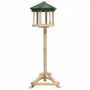 Hrănitor pentru păsări vertical, 33x106 cm, lemn masiv de brad