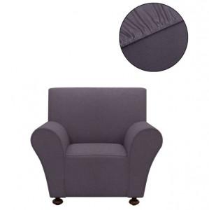Husă elastică pentru canapea din poliester jerseu, antracit