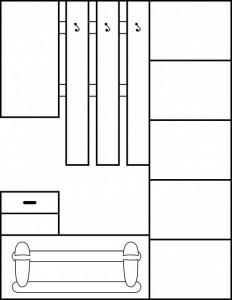 Iza (Mobila Hol 1) Plum/White