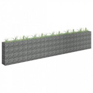 Jardinieră gabion, 450 x 30 x 90 cm, oțel inoxidabil