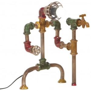 Lampă industrială de podea, design conductă de apă, fier