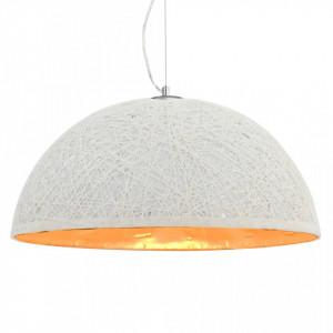 Lampă suspendată, alb și auriu, Ø50 cm, E27