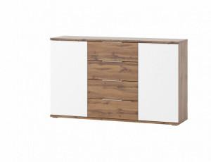 Livorno 45 comoda oak wotan/white mat
