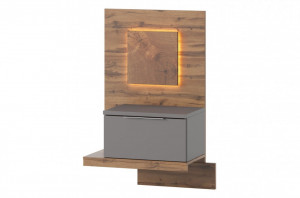 Livorno 68 rama de patside cabinet left sided bazal/grey