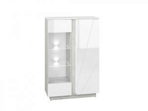 Lumens 04 display vitrina beton/white high gloss
