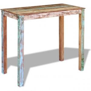Masă de bar, lemn reciclat de esență tare, 115x60x107 cm