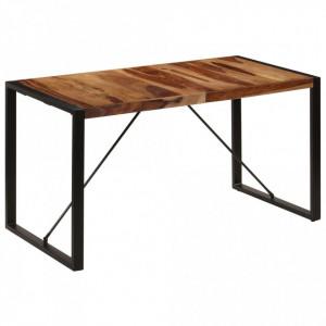 Masă de bucătărie, 140 x 70 x 75 cm, lemn masiv de sheesham