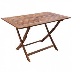 Masă de grădină pliabilă, 120x70x75 cm, lemn masiv de acacia