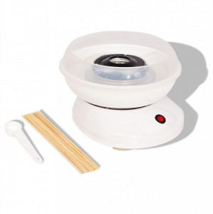 Mașină vată de zahăr 48W albă