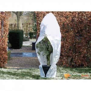 Nature Husă de iarnă din fleece cu fermoar, alb, 1,5x1,5x2 m, 70 g/m²