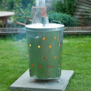 Nature Incinerator de grădină, 46x72 cm, oțel galvanizat, rotund